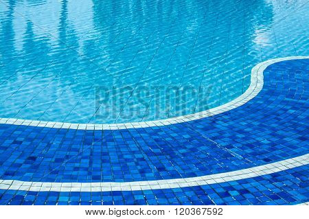 soft focus water surface sun light reflect water wave outdoor swimming pool