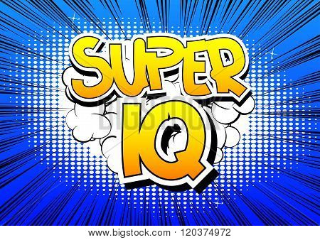 Super Iq - Comic Book Style Word.