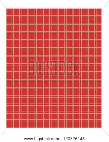 Vector Red and Gold Stripped Pattern and Wall paper