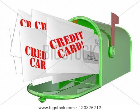 Credit Card Promotion Letters Offers Mailbox 3d