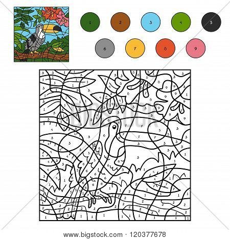 Color By Number For Children (toucan)