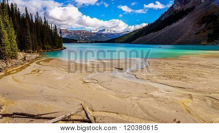 Glacier Water flowing into Lake Louise