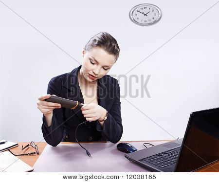 Girl With Portable Drive