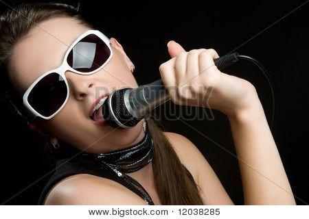 Singing Karaoke Girl