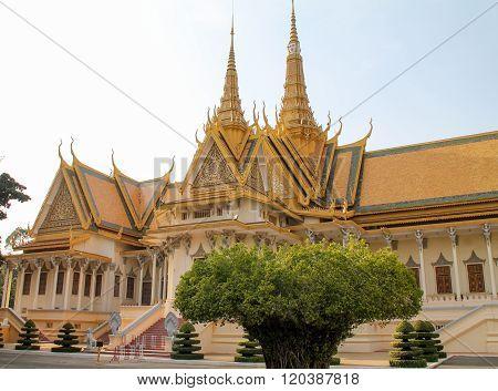 Royal Palace And Gardens In Phnom Penh, Cambodia