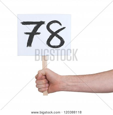 Sign With A Number, 78