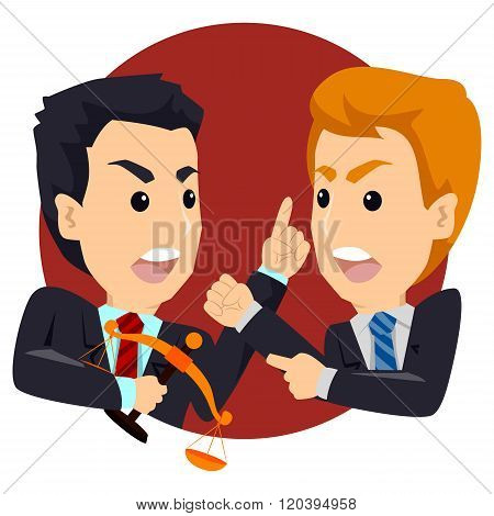 Two Angry Business Man Arguing Talking