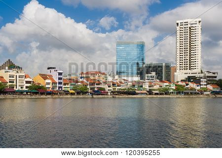 Singapore River In Morning
