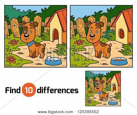 Find Differences Game For Children (dog)