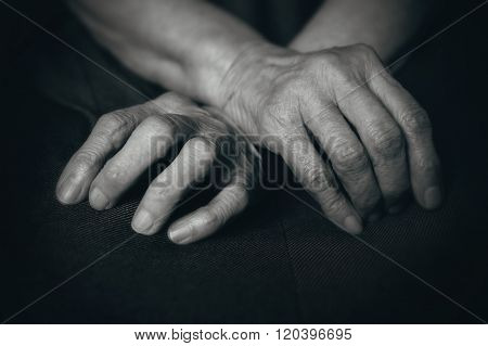 Fingers Of The Old Man's Hands