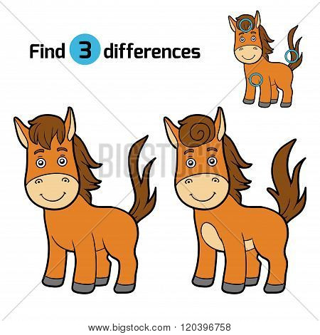 Find Differences, Game For Children (horse)