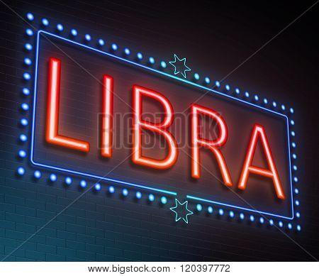 Libra Sign Concept.
