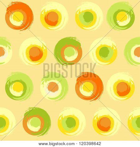 Grunge Multicoloured Circles