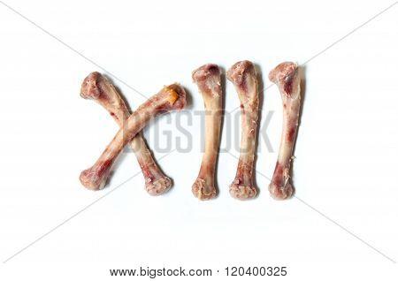 Chicken Bone Roman Number Thirteen
