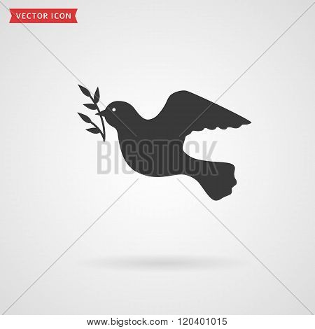 Dove Icon. Peace Concept.