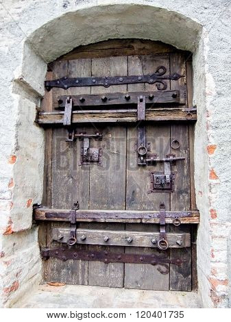 Huge Iron Door To The City Of Schongau, Germany