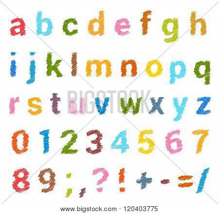 Sketched Alphabet Set