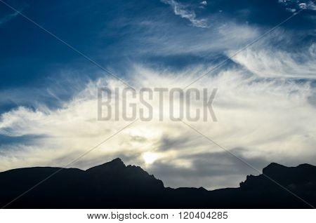 Sunset Behind Guimar Mountains