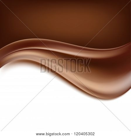 dark chocolate creamy abstract background. vector illustration