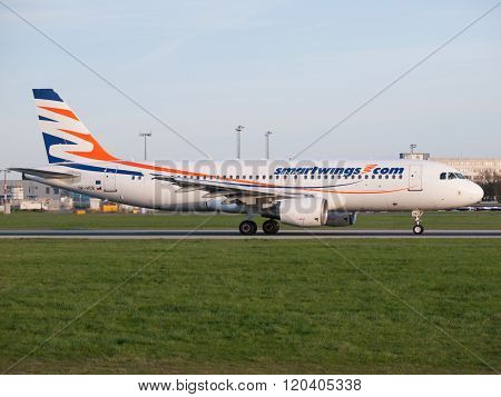 SmartWings Boeing 737-800 in Prague