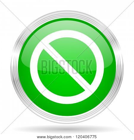 access denied green modern design web glossy icon