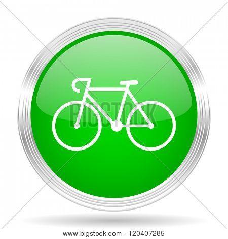 bicycle green modern design web glossy icon