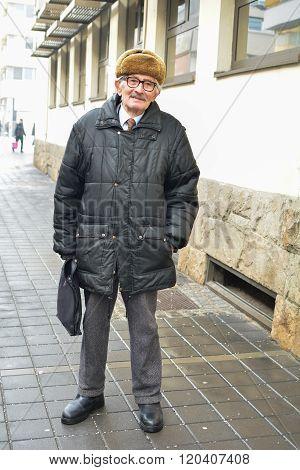 Active Senior In The Street