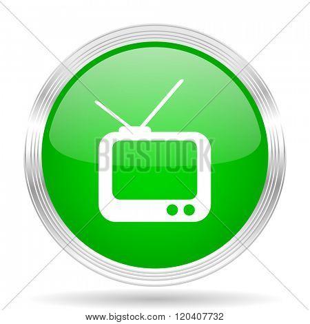 tv green modern design web glossy icon