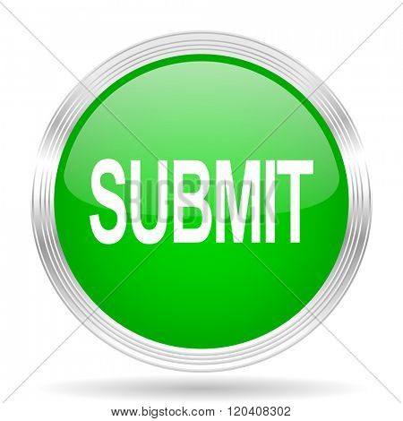submit green modern design web glossy icon