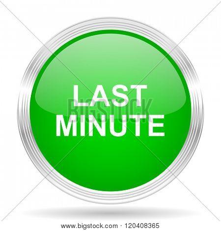 last minute green modern design web glossy icon