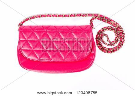 Red female bag isolated