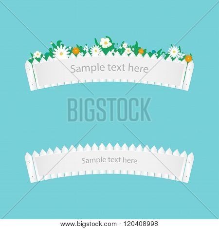 Fence With Flowers   Banner