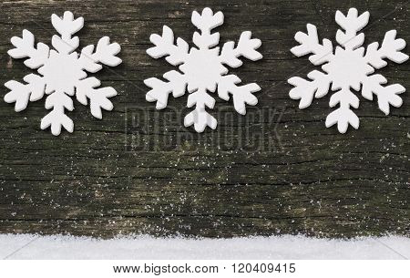 Stars On Wooden Background