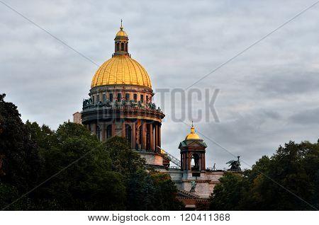 Saint Isaac's Cathedral in Saint Petersburg. Landmarks of Russia.