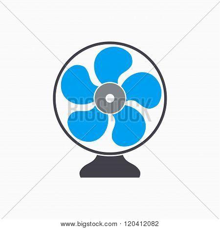Fan - Vector Icon.