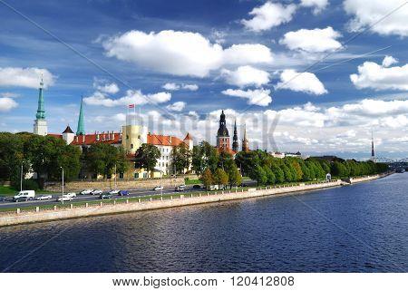General view on Riga embarkment