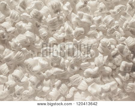 White Polystyrene Beads Background