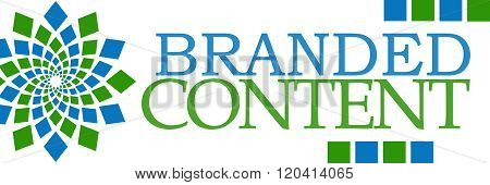Branded Content Green Blue Elements Horizontal