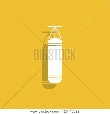 The Punching Bag Icon. Boxing Symbol.