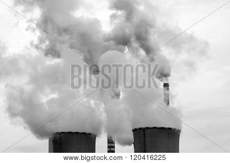 Cooling towers of the nuclear power plant