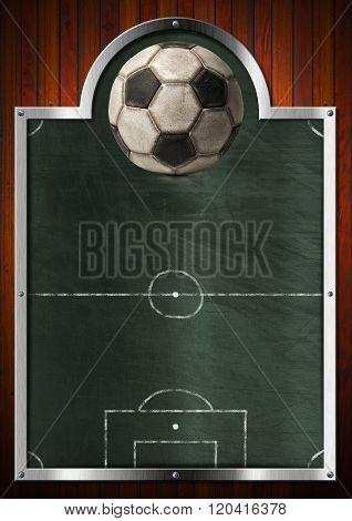 Empty Blackboard For Soccer Sport