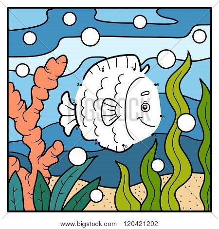 Numbers Game, Dot To Dot (fish And Background)