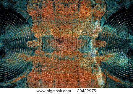 Blue Grunge Music Speakers