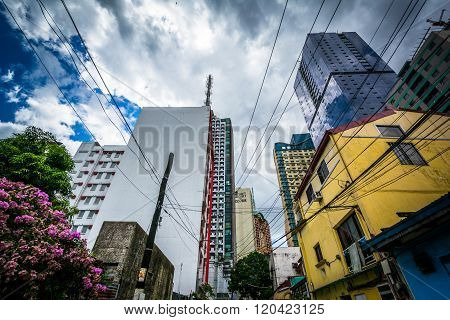 Variety Of Buildings In Poblacion, Makati, Metro Manila, The Philippines.