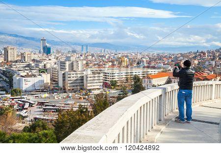 Ordinary Tourist Takes Photo Of Izmir City
