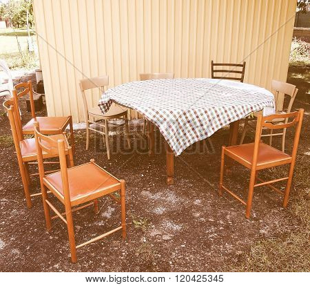 Picnic Table Vintage