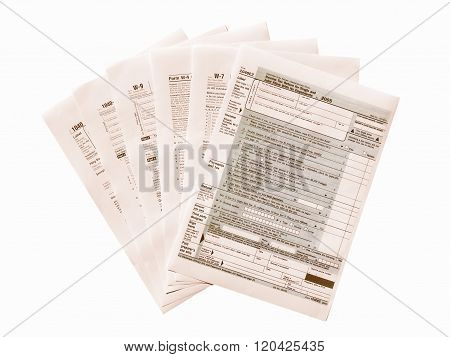 Tax Forms Vintage