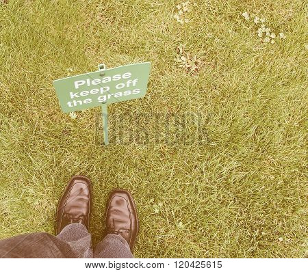Keep Off The Grass Vintage