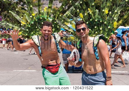 Men with Peacock Tails