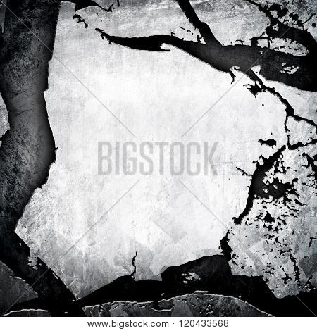 cracked metal plate background